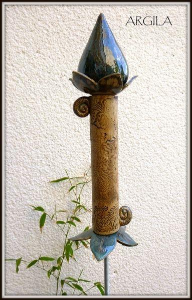 """Gartenstecker """" Blütenstab"""" ,Keramik"""