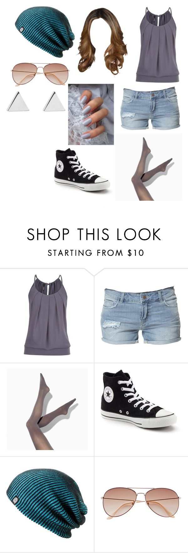 """""""Untitled #10610"""" by iamdreamchaser ❤ liked on Polyvore featuring maurices, Zara, Simply Vera, Converse, Avenue, H&M and Jennifer Meyer Jewelry"""