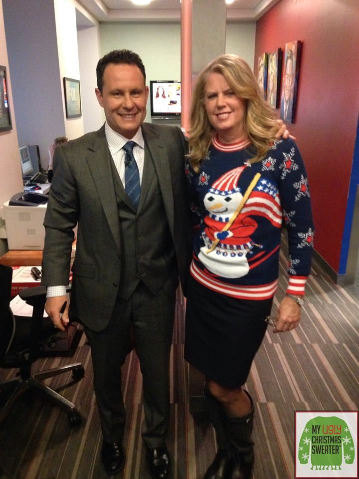 Founder and owner of My Ugly Christmas Sweater, Anne Marie, hung out ...
