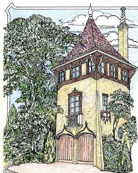 castle tower https www architecturaldesigns com house plans