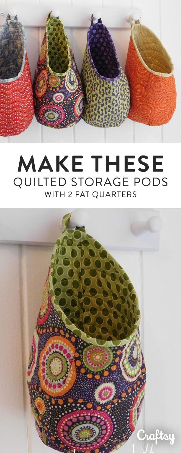 Keep Your Entryway Organized With These DIY Quilted Storage Pods. Click For  Pattern!