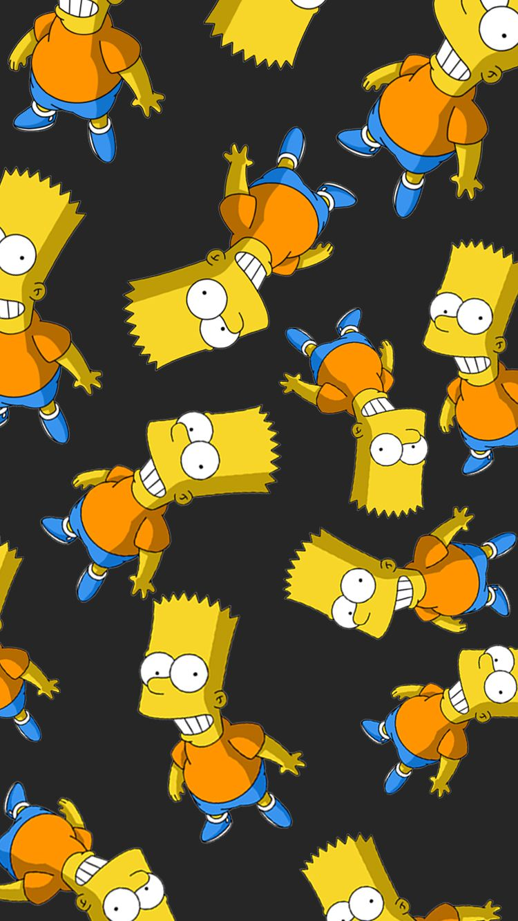 Wallpaper Iphone7 Bart Simpson Liberteen Papel De Parede Celular