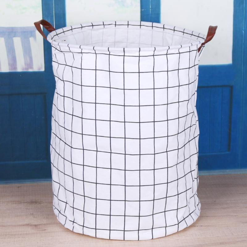 Black White Laundry Basket Laundry Basket Toy Storage Kids