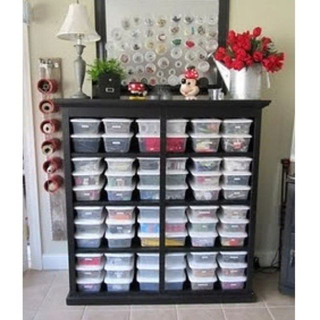 An old dresser without the drawers brilliant storage idea! Tons of beautiful craft/sewing room organization tips on this site!  sc 1 st  Pinterest & Pin by Ariel on craft room | Pinterest | Organizing Sewing rooms ...