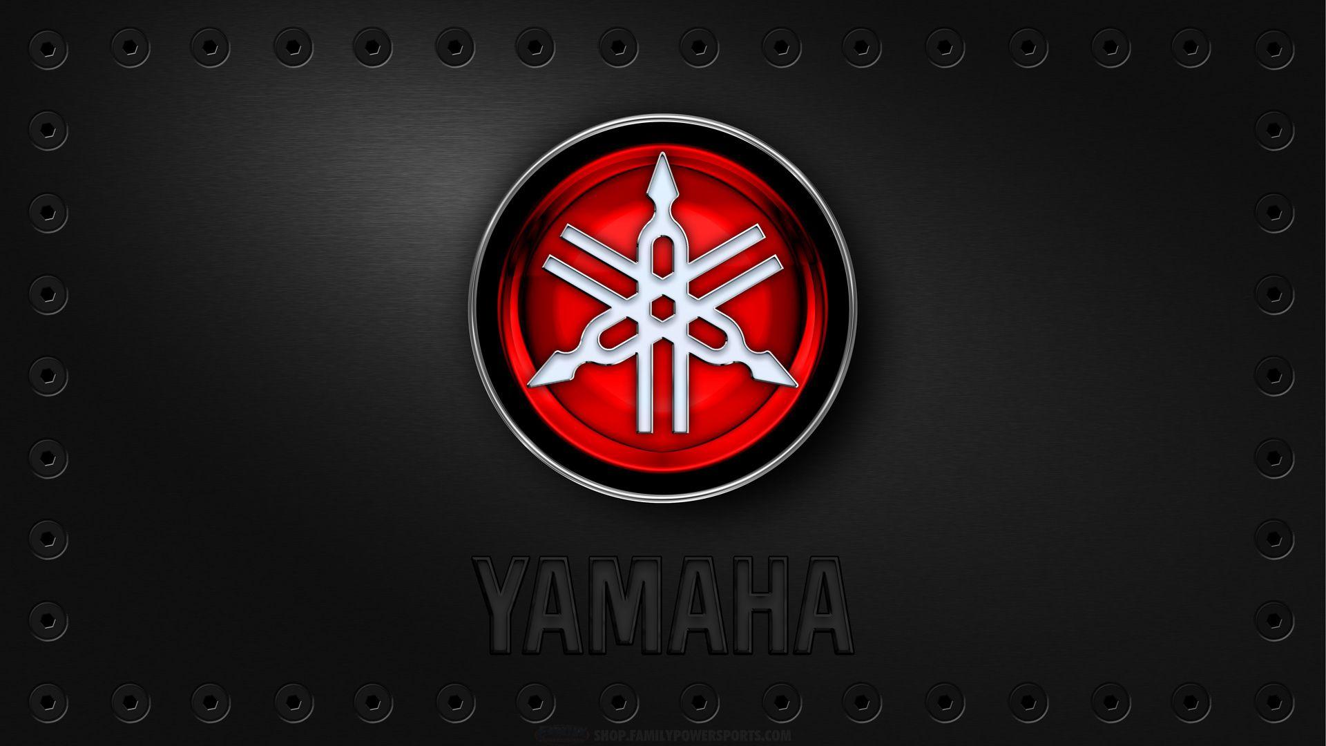 Yamaha Logo Red Wallpaper Brands