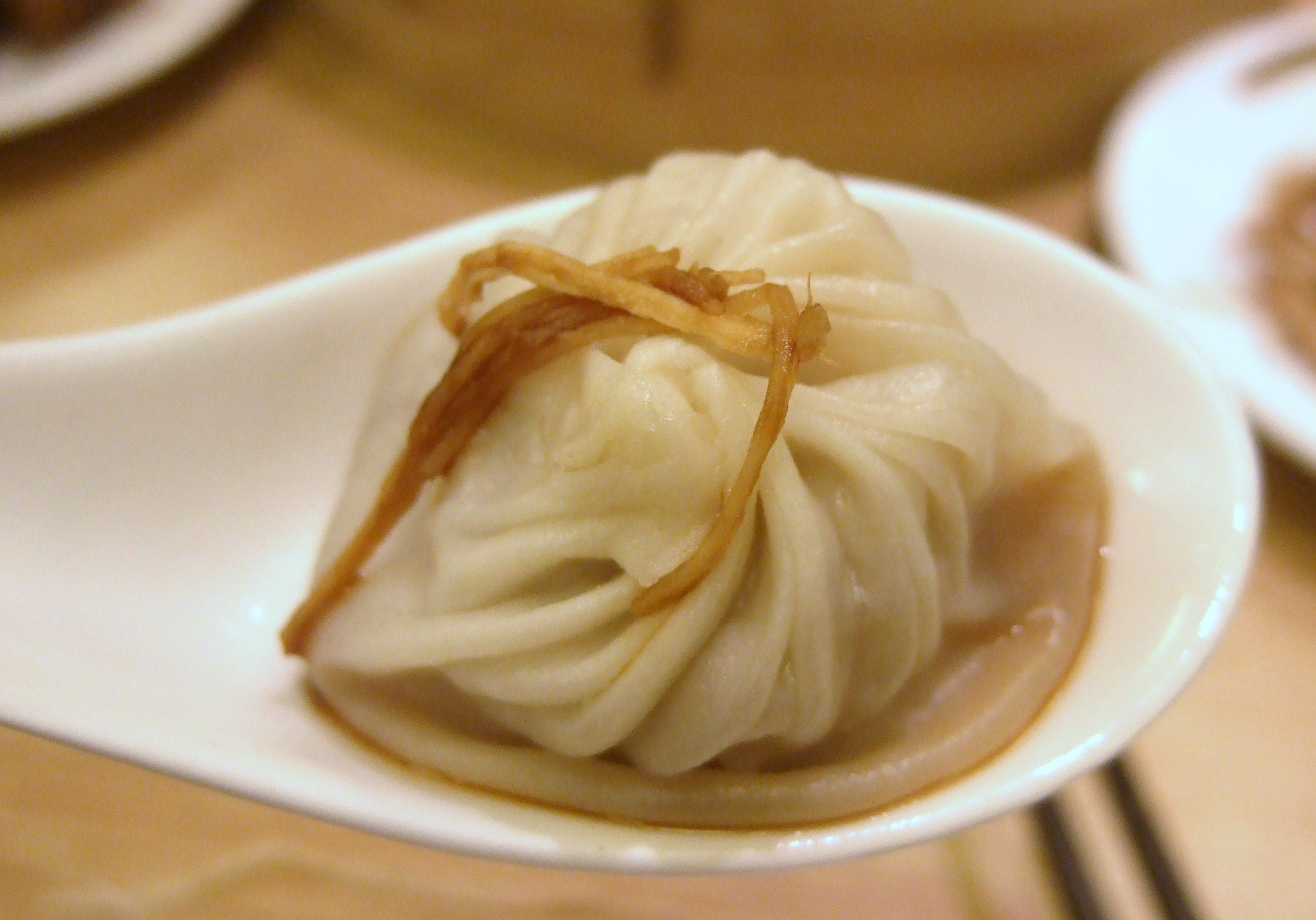 Delicious soup dumplings at the famous Din Tai Fung in Taipei, Taiwan.