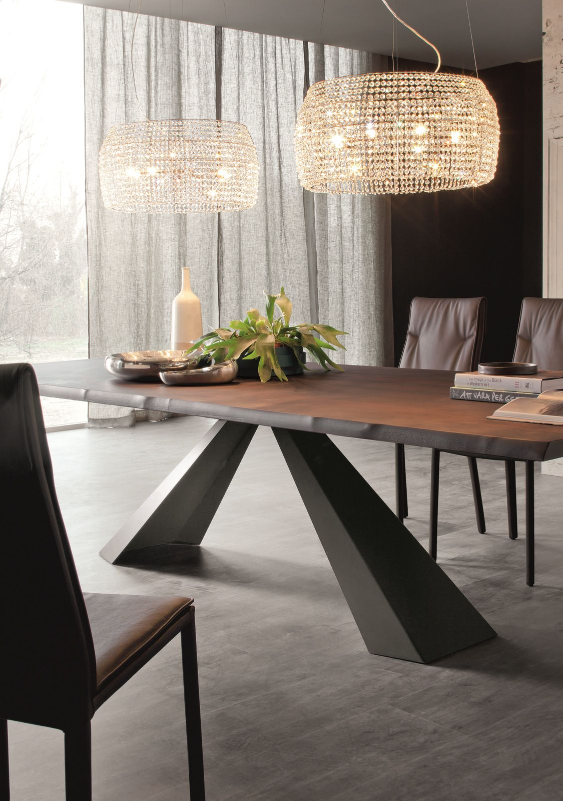 rectangular wooden table eliot wood eliot collection by cattelan italia design giorgio. Black Bedroom Furniture Sets. Home Design Ideas