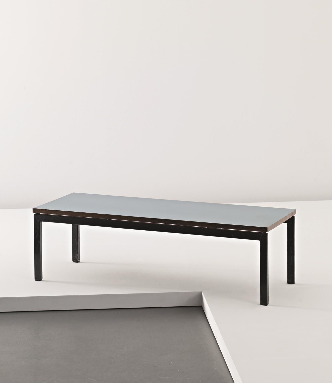 CHARLOTTE PERRIAND Low table 1958 Laminated wood painted steel