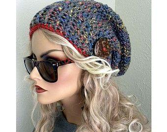 Slouchy Cappello Hat Cappello Chic Boho Donna Beanie Bohemien rwq5frC