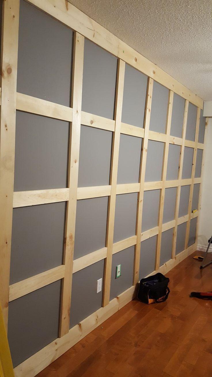 diy wall decor design board batten #boardandbattenwall