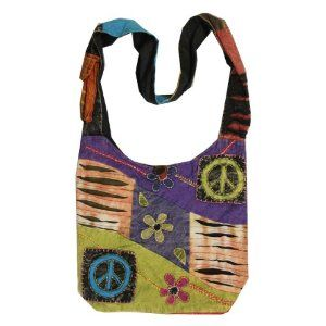 Image detail for -Hippie Ripped Razor Cut OM Peace Shoulder Sling Crossdody Monk Bag ...