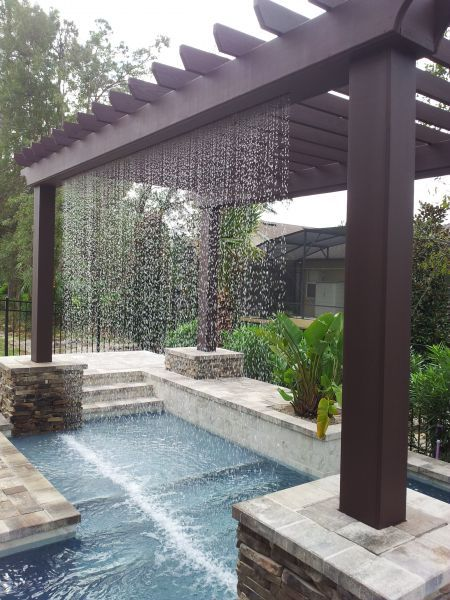 Pergola Rainfall Effect Outdoors Pergolas Backyard