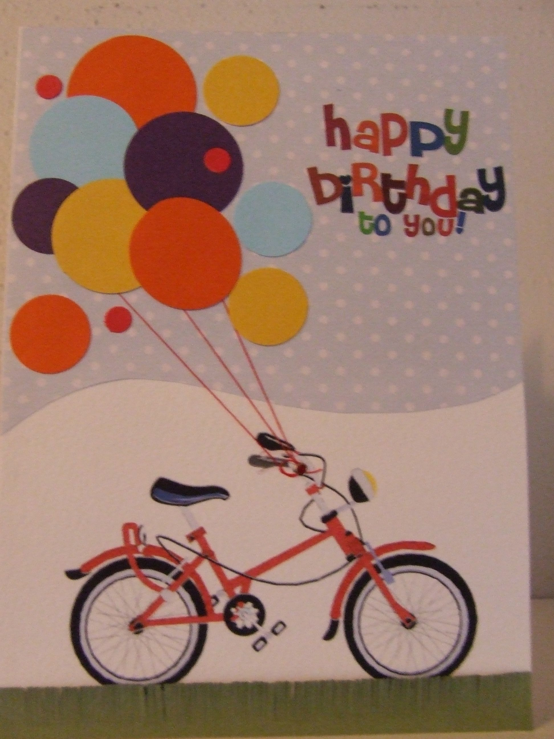 Bicycle Birthday Card Bicycle Cards Pinterest Bicycling