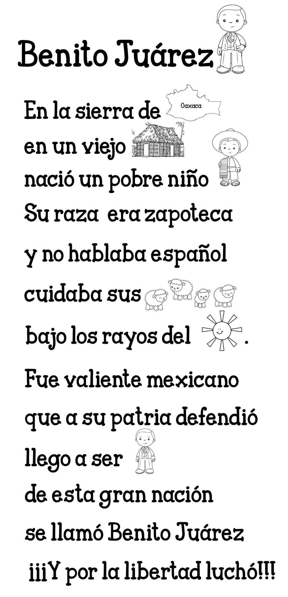 Pin De Bernardette En Letreros Del Mes Benito Juarez Para Ninos Actividades De Matematicas Preescolares Actividades
