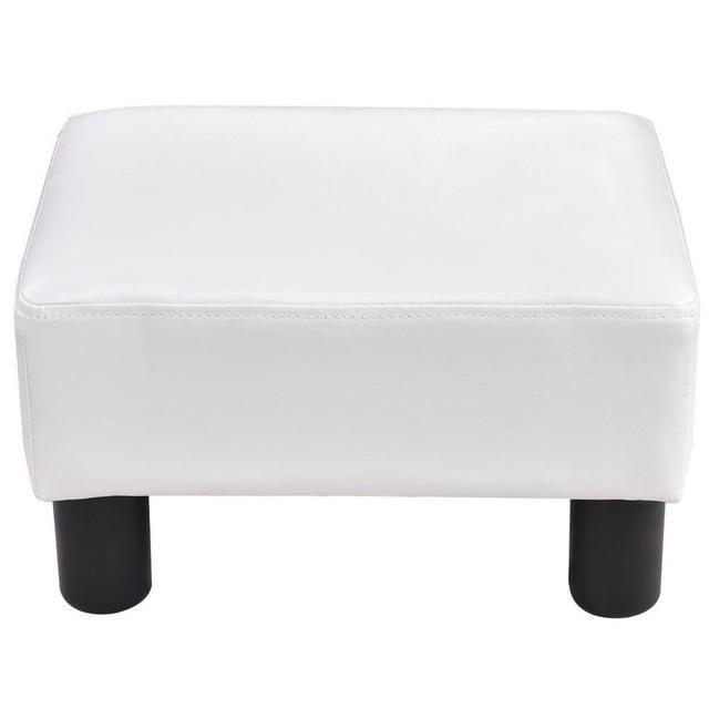 Strange Goplus Small Ottoman Footrest Pu Leather Footstool Dailytribune Chair Design For Home Dailytribuneorg