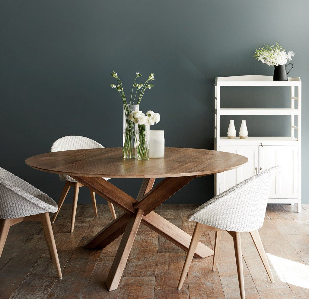 Round Wooden Dining Table For 8