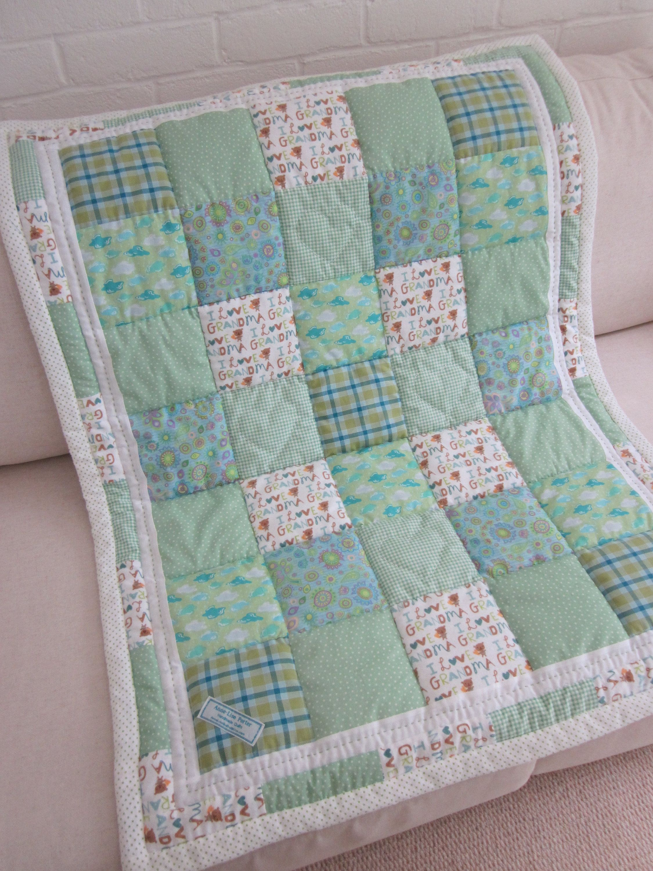 Handmade Patchwork Cushion Cover Quilting Pinterest