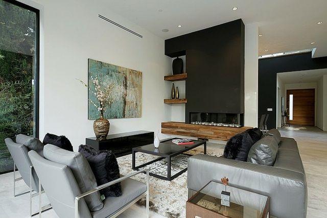 Beau Séjour Design : Le Jeu éternel De Lumière Et Du0027espace | Noir, Blanc, Bois |  House Design, Home Interior Design Et Interior Design Living Room