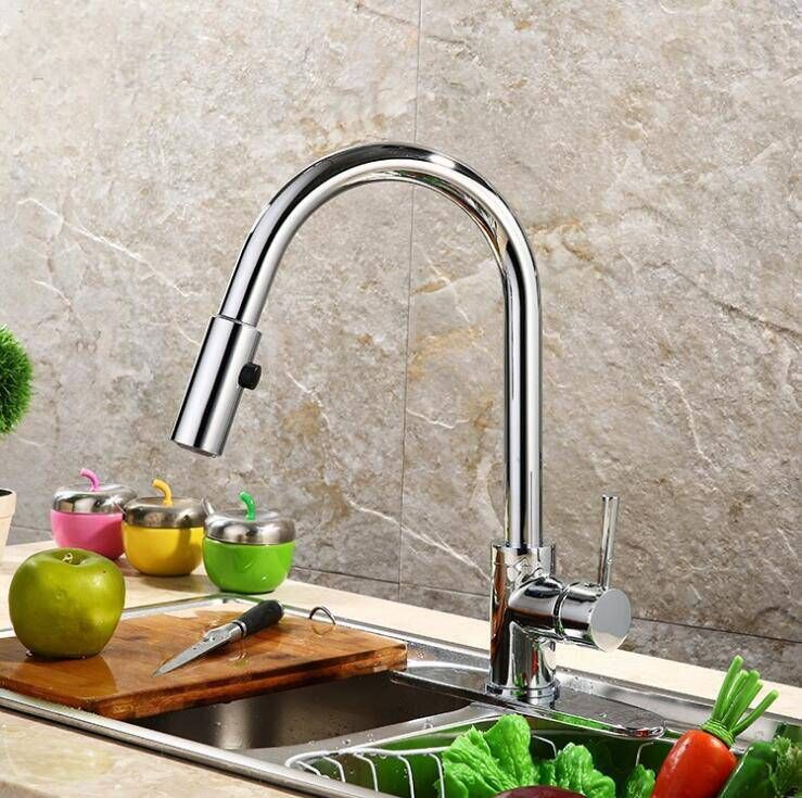 Best Quality And Retail Pull Out Brass Low Pressure Kitchen Faucet