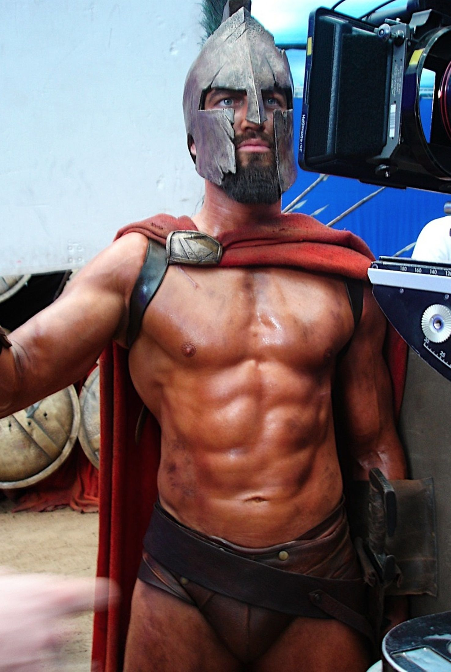 "Gerard Butler in ""300""...unbelievable. And this is why some actors earn  high salaries. Those things took work!"