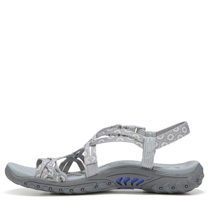 4aeba56ed05f Skechers Women s Reggae Happy Rainbow Sandals (Grey) - 10.0 M ...