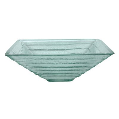 Frosted aqua glass sink