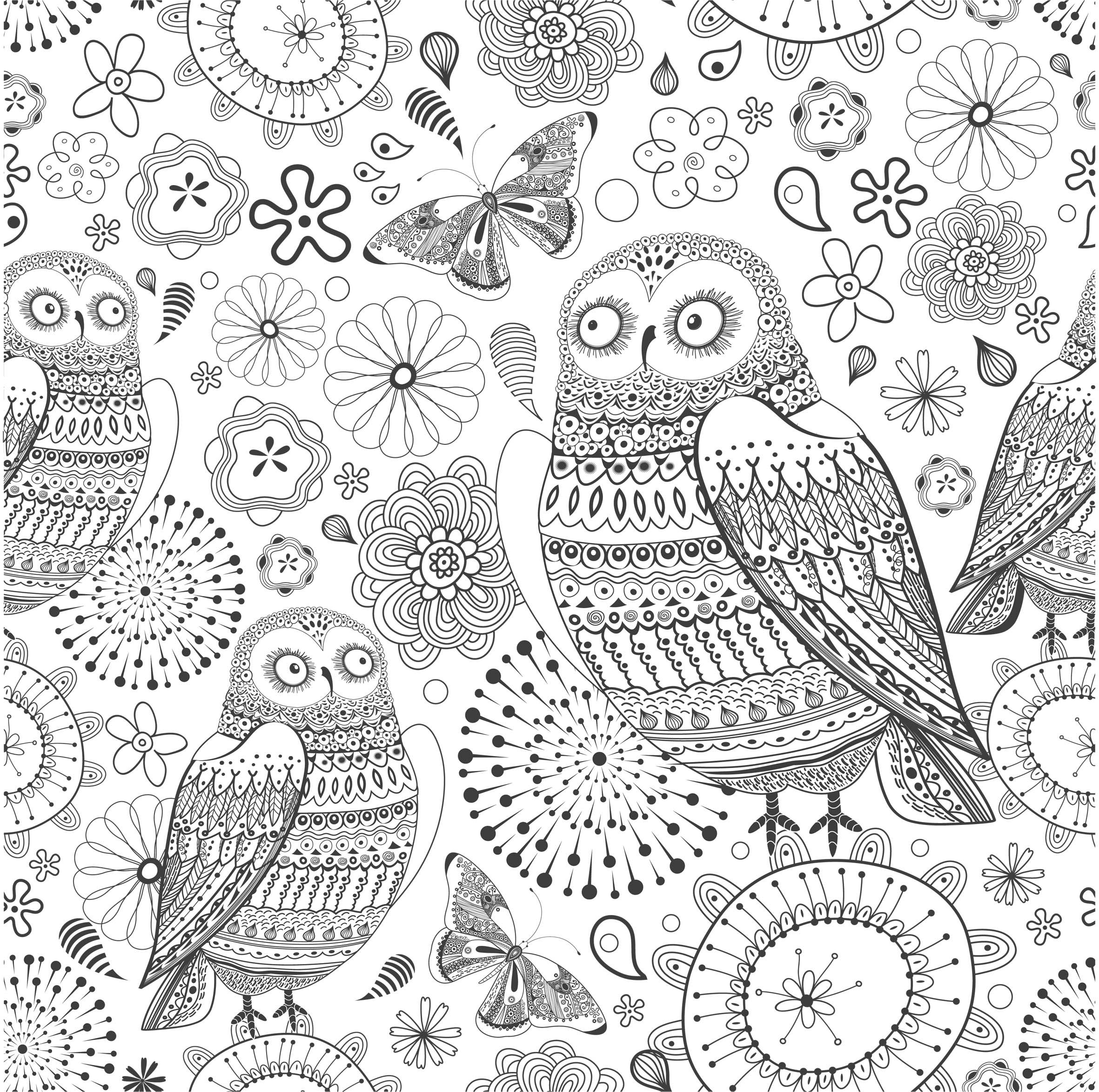 Anti stress colouring pages for adults - Coloriage Inspiration Amazonie Des Coloriages Anti Stress En Printable Gratuit Coloring For Adultsadult