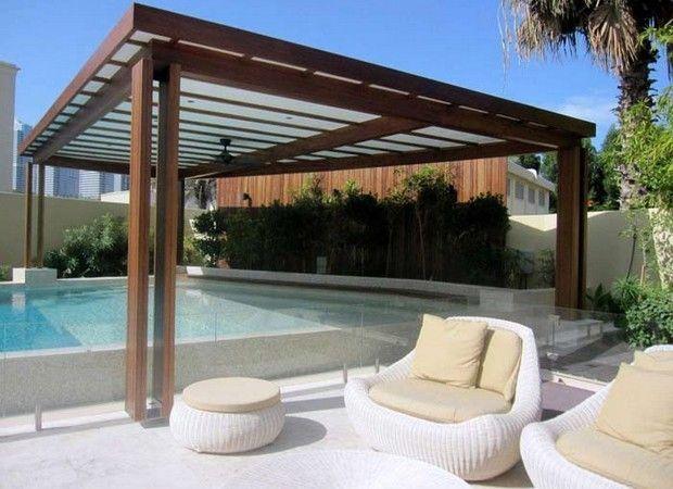 luxury pergolas over pool