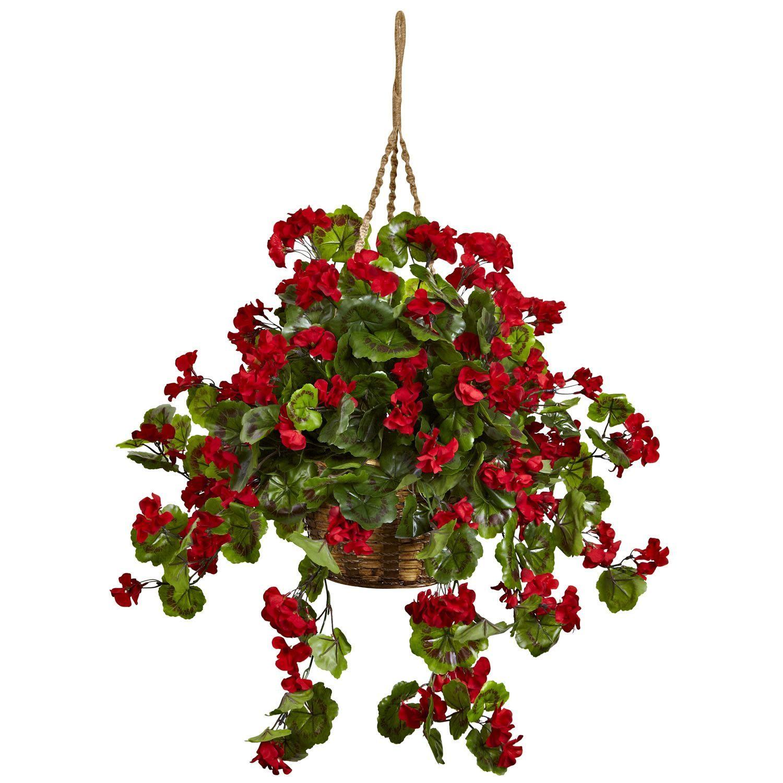 Geranium Hanging Basket UV Resistant Indoor Outdoor