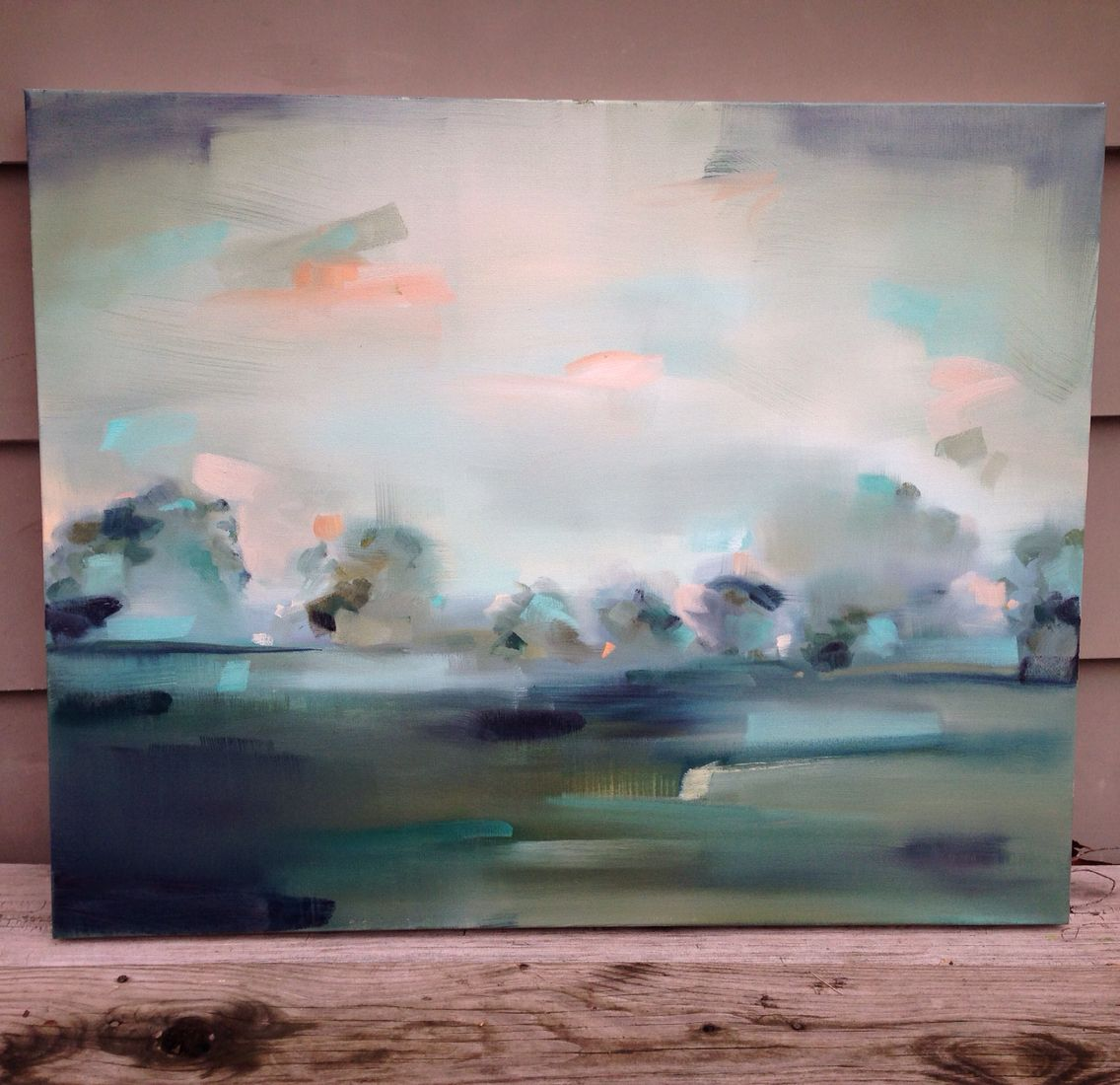Contemporary abstract landscape oil painting Megan Jefferson