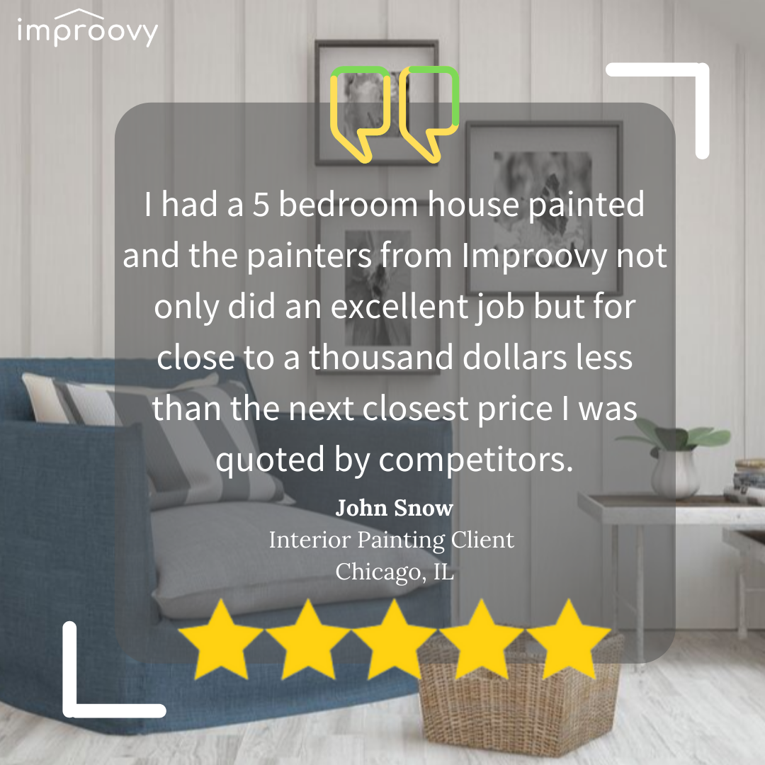 ✅At Improovy, we love making our customers' painting experience hassle-free. ✅ . #review #reviews #instareview #bucktownchicago #bucktown #logansquare #logansquarechicago #chicagoluxuryhomes #realestate #realestateagent #realestateinvesting #realestatelife #chicagorealestate #chicagorealtor #chicagorealtors