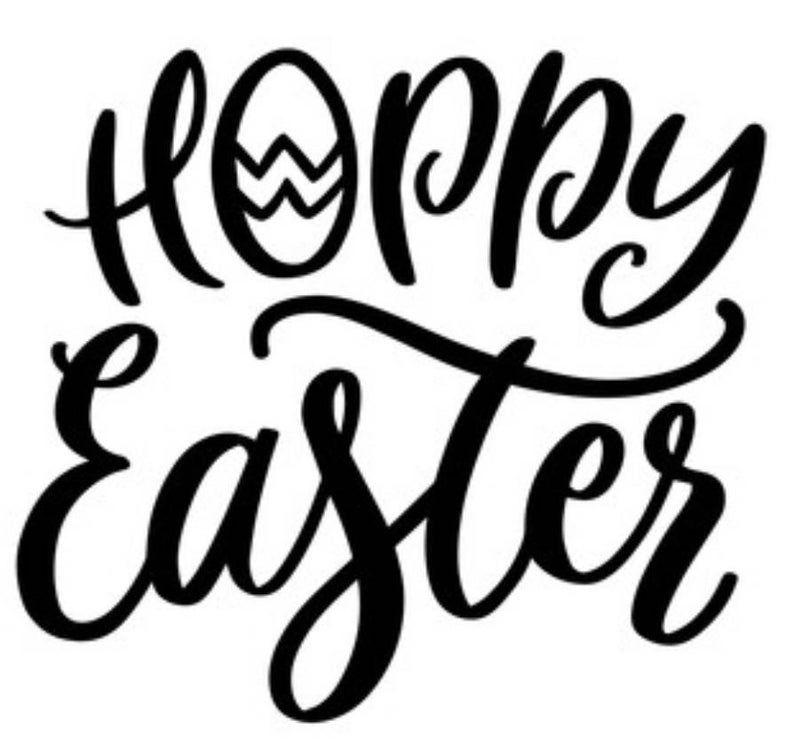 Hoppy Easter vinyl Decal, yeti sticker Car Decal Sticker, For Car, Window, Bumper Sticker, Truck, Laptop, Walls, Computer, Men, Women, kids