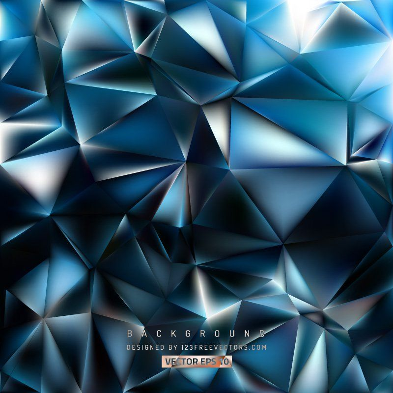 Blue Black Polygon Background Geometric Background Cool