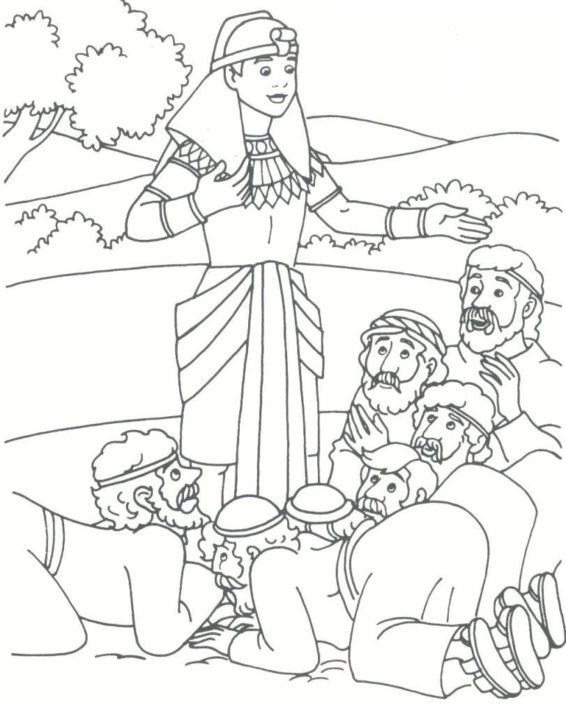 Coloring pages bible stories preschoolers - Joseph Bible Coloring Pages Joseph Reveils His Identity To His Brothers And