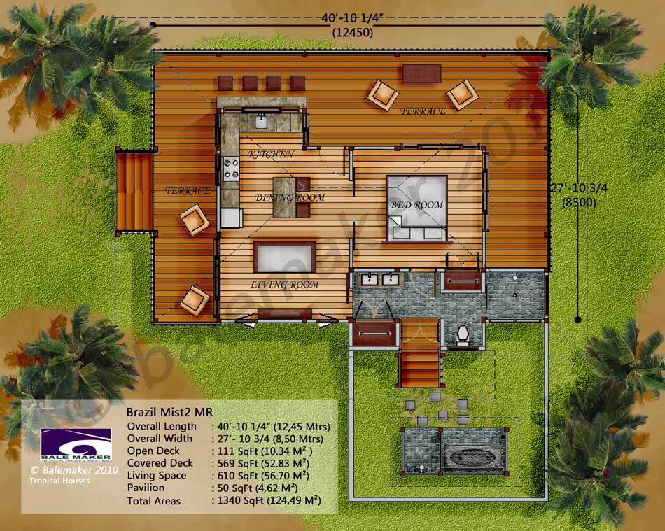 Tropical house floor plan designs