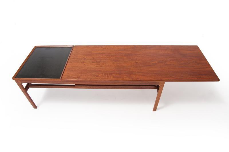danish modern sliding top coffee table FURNITURE