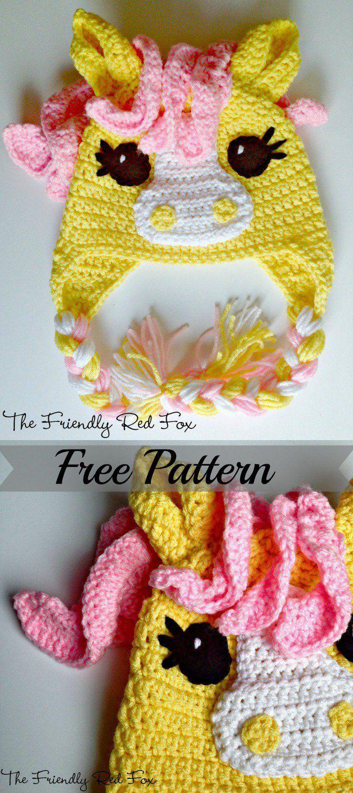 40 Crochet Animal Hat With Patterns Crochet Unicorn Hat Crochet Hat Pattern Crochet Animal Hats