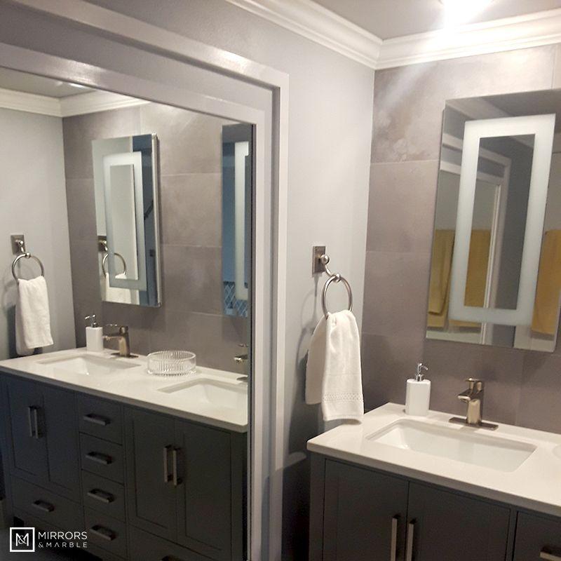 Lighted Led Bathroom Mirror Medicine Cabinet 16 X 30 Flush