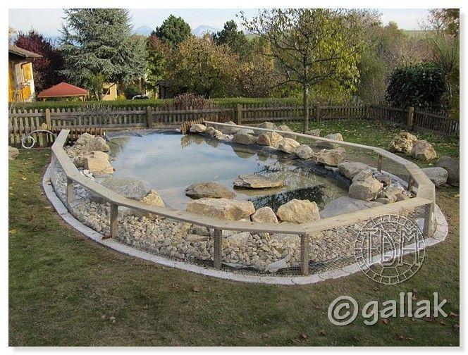 exemples de bassins ext rieurs pour aquatiques tortue pinterest bassin exterieur bassin. Black Bedroom Furniture Sets. Home Design Ideas