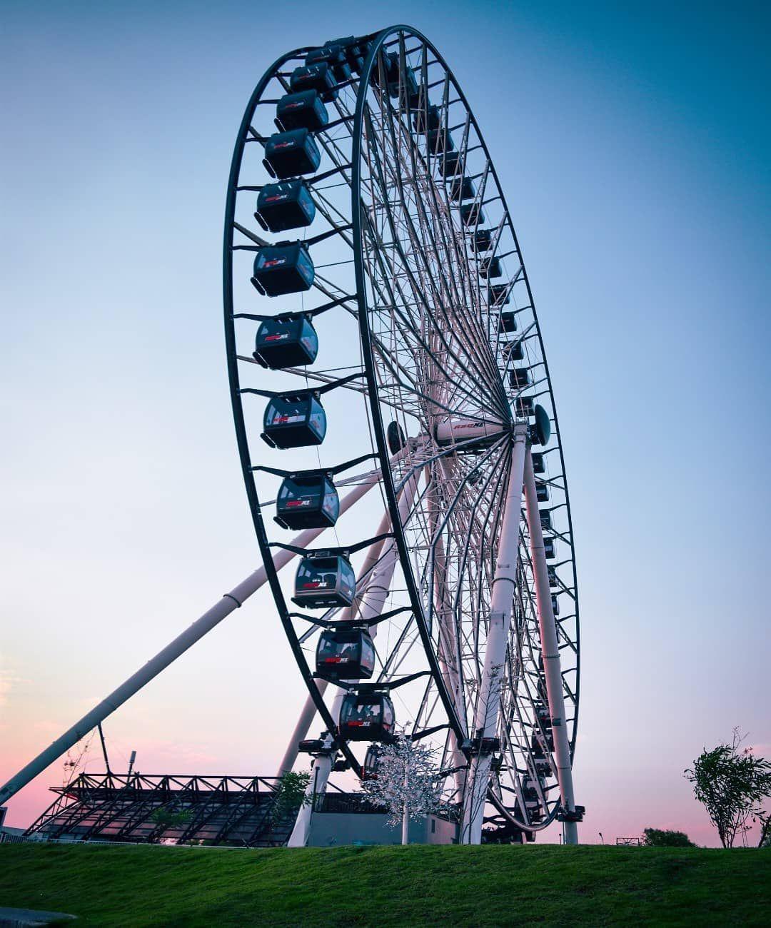 La rueda de la fortuna más grande de México.