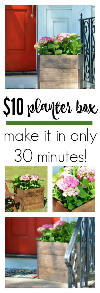 DIY Wood Planter Box - Jenna Kate at Home -   18 plants DIY wood ideas