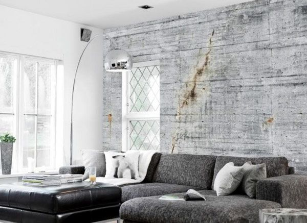 terrific black and white living room wallpaper. Apartment  Terrific Sofa With Concrete Wall To Wallpaper Background An Original Industrial Look Using