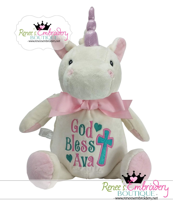 Personalized girl graduation gift preschool kindergarten personalized easter gift girl easter basket unicorn bunny rabbit keepsake unicorn stuffed negle Image collections