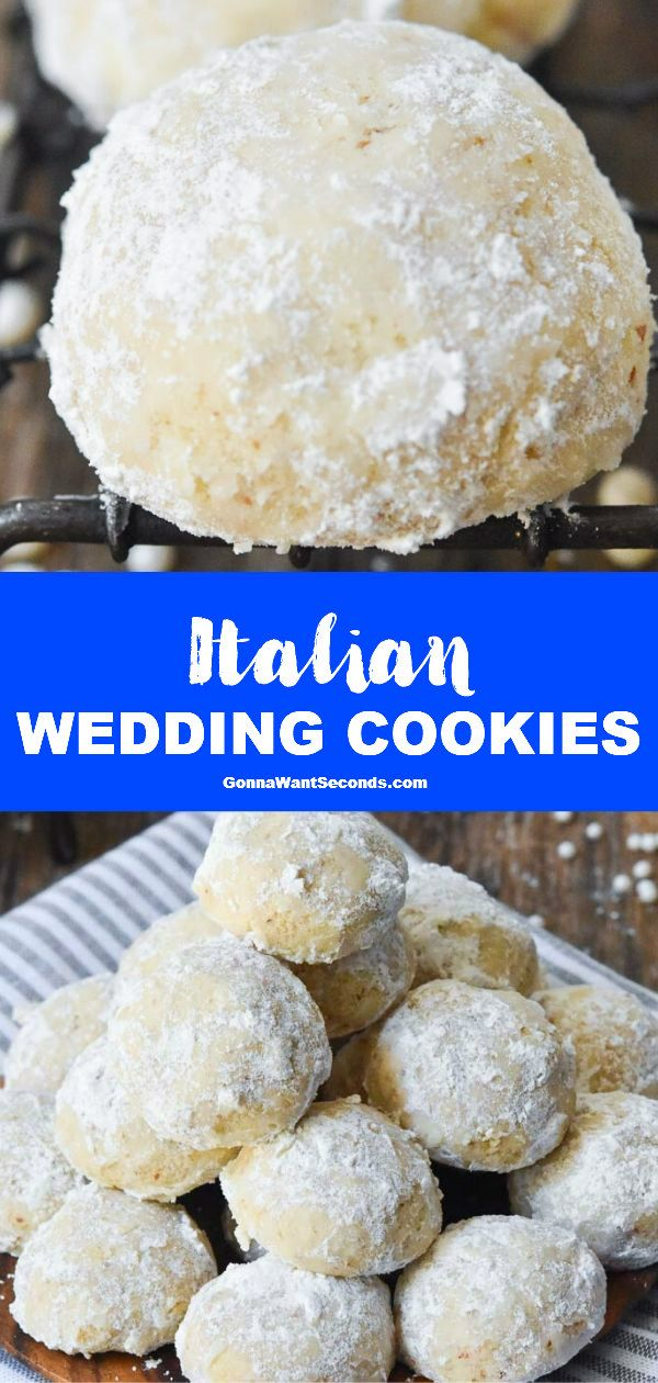 Italian Wedding Cookies 6ingredient Dessert NEW Italian Wedding Cookies dust your dessert trays with confectioners sugar wonder You only need 6 ingredients to make these...