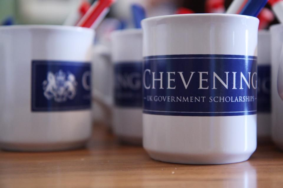 The Chevening mug. Provided to our scholars so they can enjoy their English tea when they get to the UK.