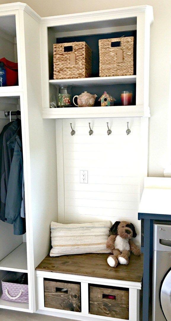 Diy Laundry Closet To Mudroom Makeover Mudroom Laundry Room
