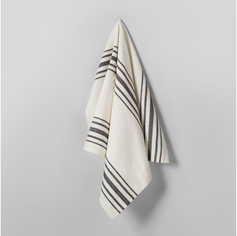Black and white Grain stripe kitchen towel Magnolia Hearth & Hand