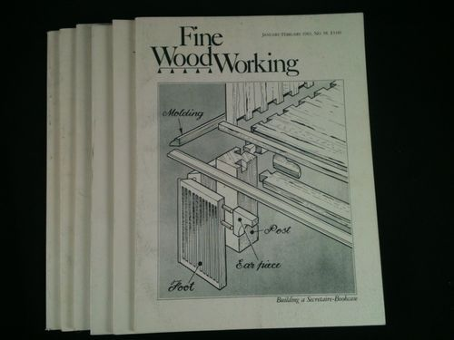 Vintage Fine WoodWorking Magazines Lot 6 1983 Back Issues DIY Wood Crafts