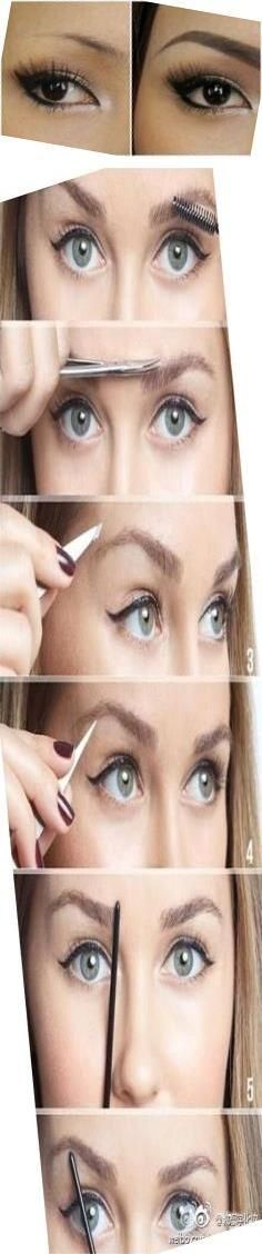 Best Way To Shape Eyebrows   Makeup Of Eyebrows   What Can ...