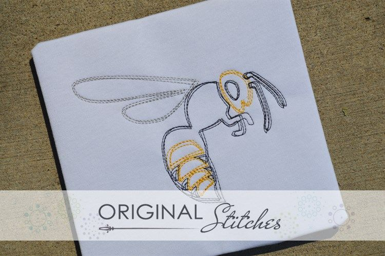 Yellow Jacket Quick Stitch Machine Embroidery and Applique